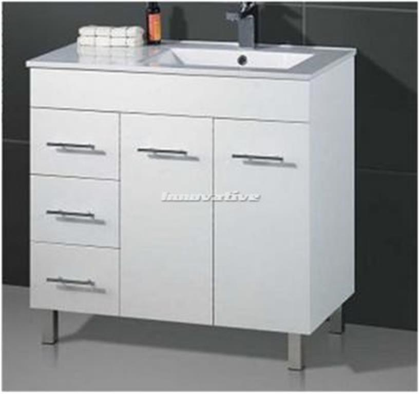 Bathroom vanity basin ceramic top 2 pac fingerpull 900w for Bathroom cabinets ebay australia
