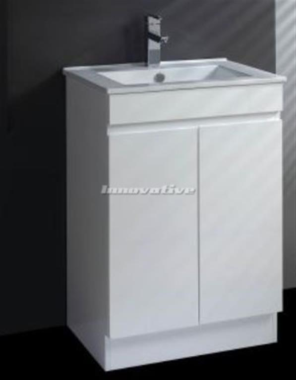 bathroom tall boy vanity pac white frosted glass door