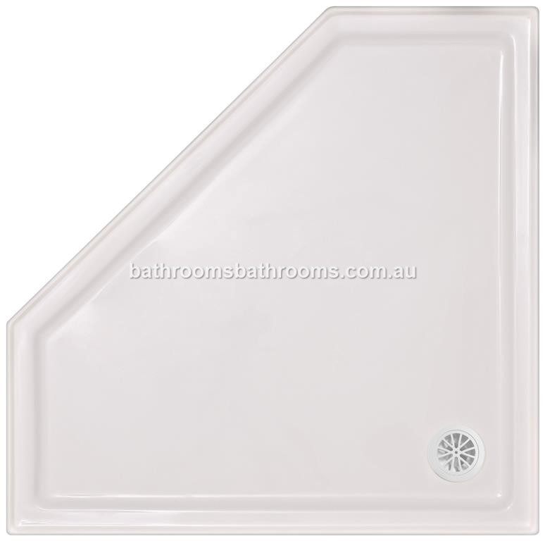 Polymarble Shower Base Sizes 820 900 1000 1060 1200 1500 Aus Made 4 Sided Tile Lip Innovative