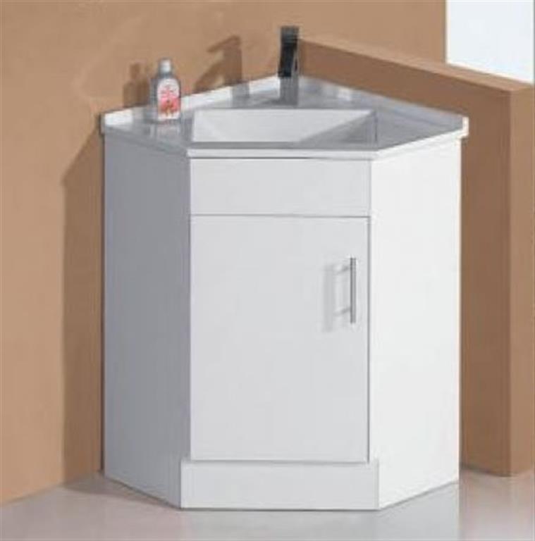 Corner Bathroom Vanity Dimensions: Bathroom Corner Vanity With Basin Top White High Gloss 2