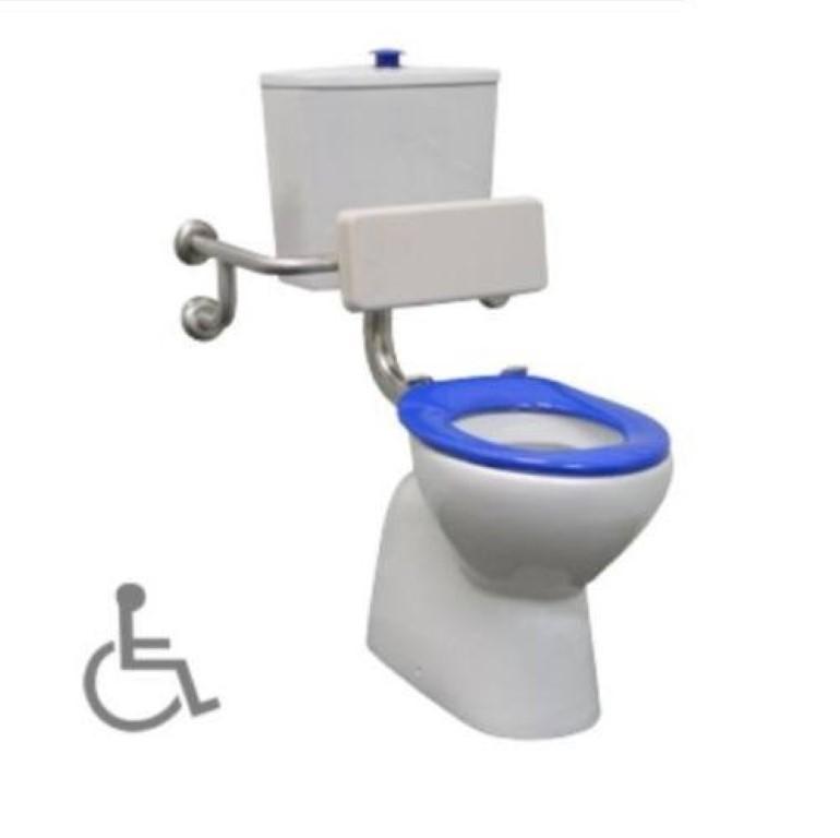 disabled toilet backrest stainless steel back rest grab bar safety