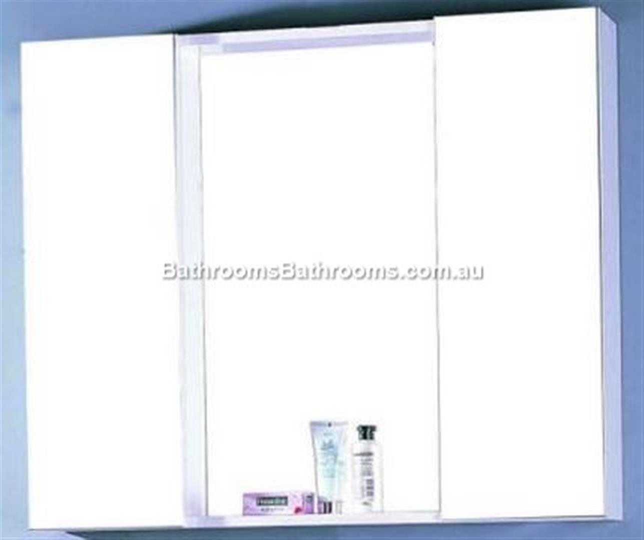 mirror cabinet shaving medicine bathroom 900wx750hx150d new wall hung
