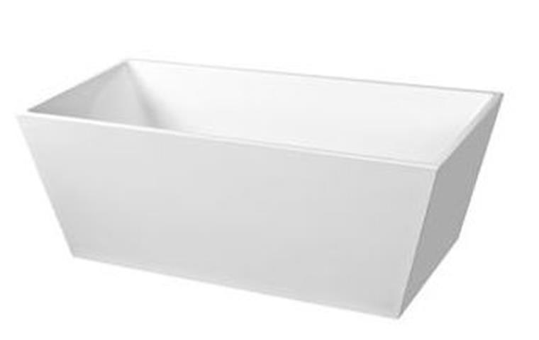 bath tub free standing 1500mm rectangle square edge cube design 1500