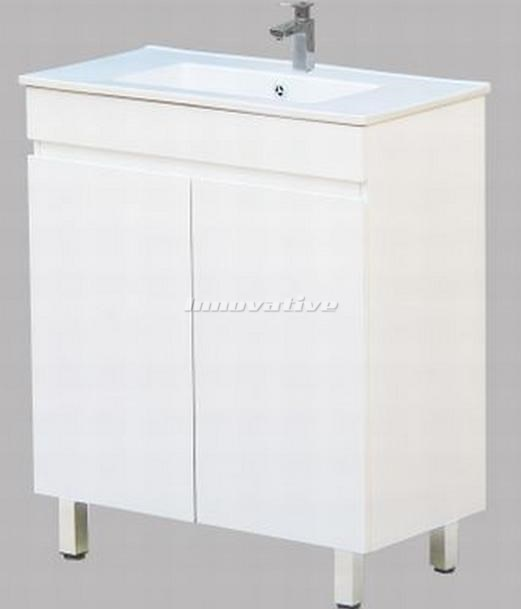 Bathroom vanity narrow 750wx390mm basin ceramic top 2 for Narrow floor standing bathroom cabinets