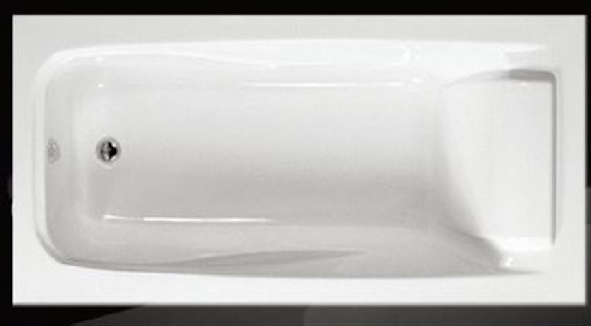 1500mm Acrylic Bath Tub Drop In Inset Design Head Rest