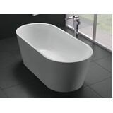 Bath Tub Free Standing 1500mm Modern Oval Curve Design 1500*750*580