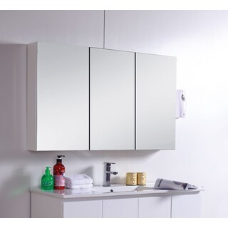 Mirror Cabinet Shaving Medicine Bathroom bevel Edge  1200Wx720Hx150D Wall Hung or In-wall