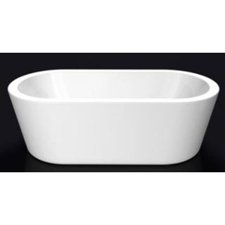 Bath Tub Free Standing 1495mm Wide Flat Lip Modern Oval Curve Design 1495*800*590