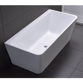 Bath Tub Free Standing Back to Wall Rectangle Square Cube Design 1400*750*590