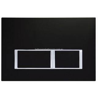 Black Square Mechanical Flush Panel for In Wall Cistern