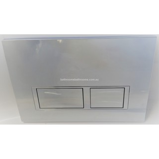 ChromeSquare Mechanical Flush Panel for In Wall Cistern
