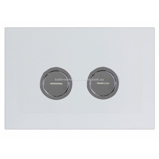 Chrome Square Pneumatic Flush Panel Buttons for In Wall Cistern