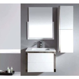 Bathroom Wall Hung Soft Close 2 Draw Vanity /Basin Ceramic Top 2Pac 750Wx450mm