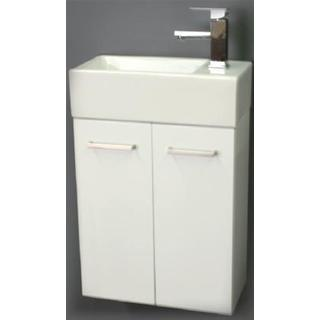 Wall Hung Vanity Slimline 2PAC 500w*250d*720h Ceramic Top Basin