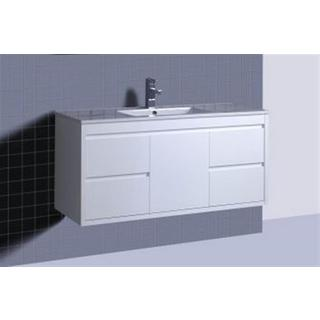 Bathroom Wall Hung Vanity & Basin Ceramic or Stone Top 2Pac 1200Wx460mm