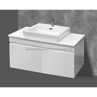 Bathroom Vanity & Ceramic Basin 2 Pac Fingerpull 900W x 460 x 600 mm Wall Hung