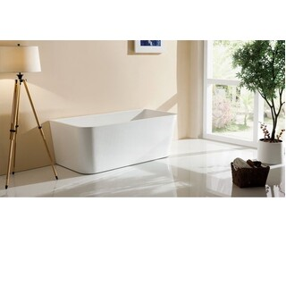 Bath Tub Free Standing Back to Wall Rectangle Square Cube Design 1600*800*580