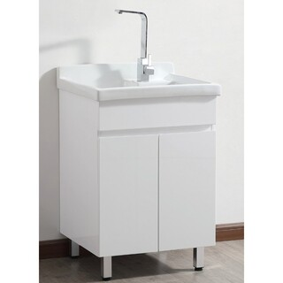 Laundry Wash Trough Vanity with Ceramic Top Basin 600*550*880
