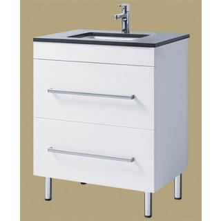 Bathroom Vanity 705Wx465mm & Basin Ceramic Top 2 Pac White Draws Handles