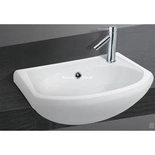 Semi Recessed Ceramic Basin Mid Sized 420w x 295d mm with Overflow NEW (062)