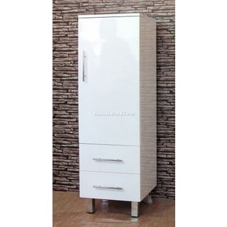 Bathroom Tall Boy Vanity Pac White 2 Draw 1 Door 1330x450x420mm