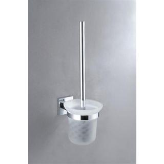 Toilet Brush & Holder Glass Wall Mount Square Bathroom Accessories * NEW*