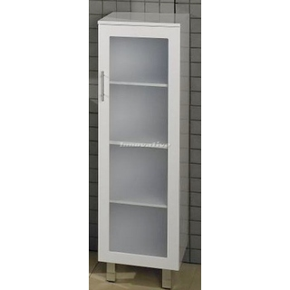 Bathroom Tall Boy Vanity Pac White Frosted Glass Door 1330x400x400mm