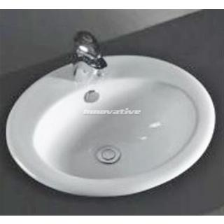 Inset Drop in Ceramic Basin Oval Design Lge 525w x 420d mm with Overflow NEW (B5HD)