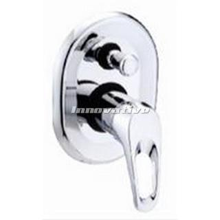 Hoop Lever Brass Chrome Shower Mixer Tap with Bath Diverter