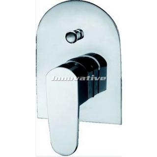 Curve 90 Shower Mixer with Bath Bath Diverter Wall Mixer Brass Chrome