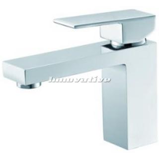 Cube Bold Bathroom Basin Mixer Fixed Chrome Finished Brass  Cube WELS 4