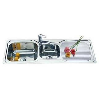 1 & 3/4 Bowl Kitchen Sink With Drainer LGE 1225*470*180