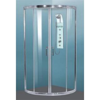 Shower Screen Round Slider Sizes: 900/ 950/ 1000 6mm Toughened Glass