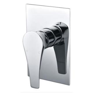 Teardrop Hybrid Shower Mixer Bath Wall Mixer Bathroom Brass Chrome Cube