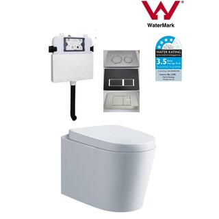 In Wall Toilet Suite New Ceramic S&P trap Soft Close Seat Curve Concealed Cistern Panel Option