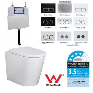 In Wall Toilet Suite New Ceramic S&P trap Soft Close Seat Concealed Cistern Curve SHIPPING CALC