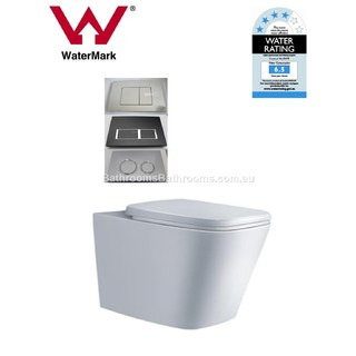 In Wall Toilet Suite New Ceramic S&P trap Soft Close Seat Concealed Cistern Cube SHIPPING CALC