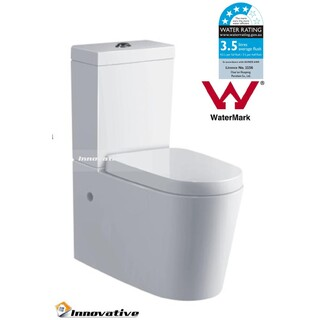 New Back To Wall Toilet Suite Ceramic Curve Design S&P Trap Soft Close Seat