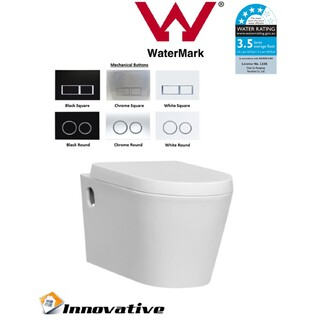 Wall Mount Wall Hung Toilet, Soft Close Seat,In Wall Concealed Cistern WELS 4*