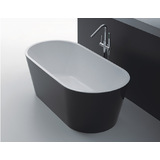 Bath Tub Free Standing 1700mm Black & White Modern Oval Curve Design 1700*800*600