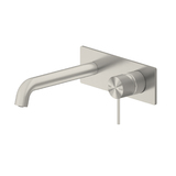 MECCA WALL BASIN MIXER 160MM Brushed Nickel