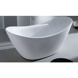 Bath Tub Free Standing Large Modern Oval Raised Back Curve Design 1720*740*740