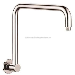 Wall Mounted Shower Arm Round Design 316mm Rise Brass with Chrome Finish