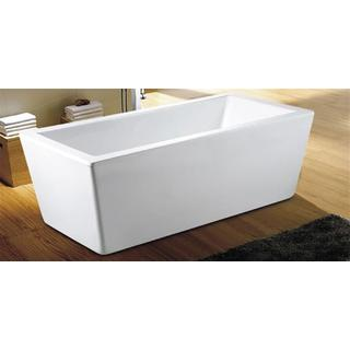 Bath Tub Free Standing 1700mm Wide Flat Lip Modern Cube Design 1700*800*600
