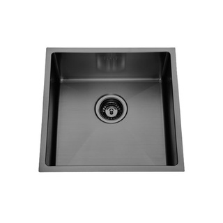 Gun Metal Grey (Nickel-Black) Under Mount Stainless Steel Kitchen Sink 450*450*200 Hand Made