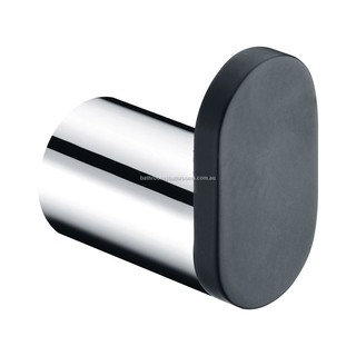 Robe Hook Towel Hook Chrome and Matt Black Bathroom Accessories 44x40x25mm