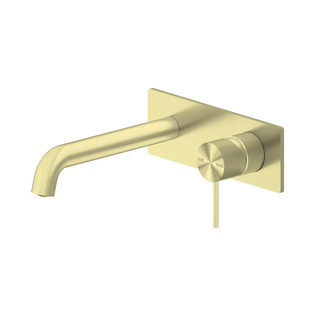 MECCA WALL BASIN MIXER 230MM Brushed Gold