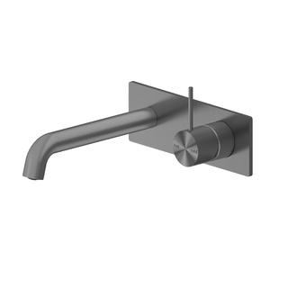 MECCA WALL BASIN MIXER HANDLE UP 160MM Gun Metal Grey