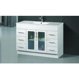 Bathroom Vanity & Basin Ceramic Top 2 Pac With Handles 1200W x 460mm