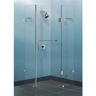 Frameless Shower Screen Diamond Sizes: 900/ 1000/ 1100/ 10mm Door And Return Set Toughened Glass